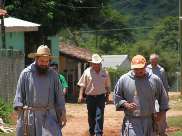 We also frequently collaborate with the Franciscan Friars of the Renewal CFR, who happen to live next door!